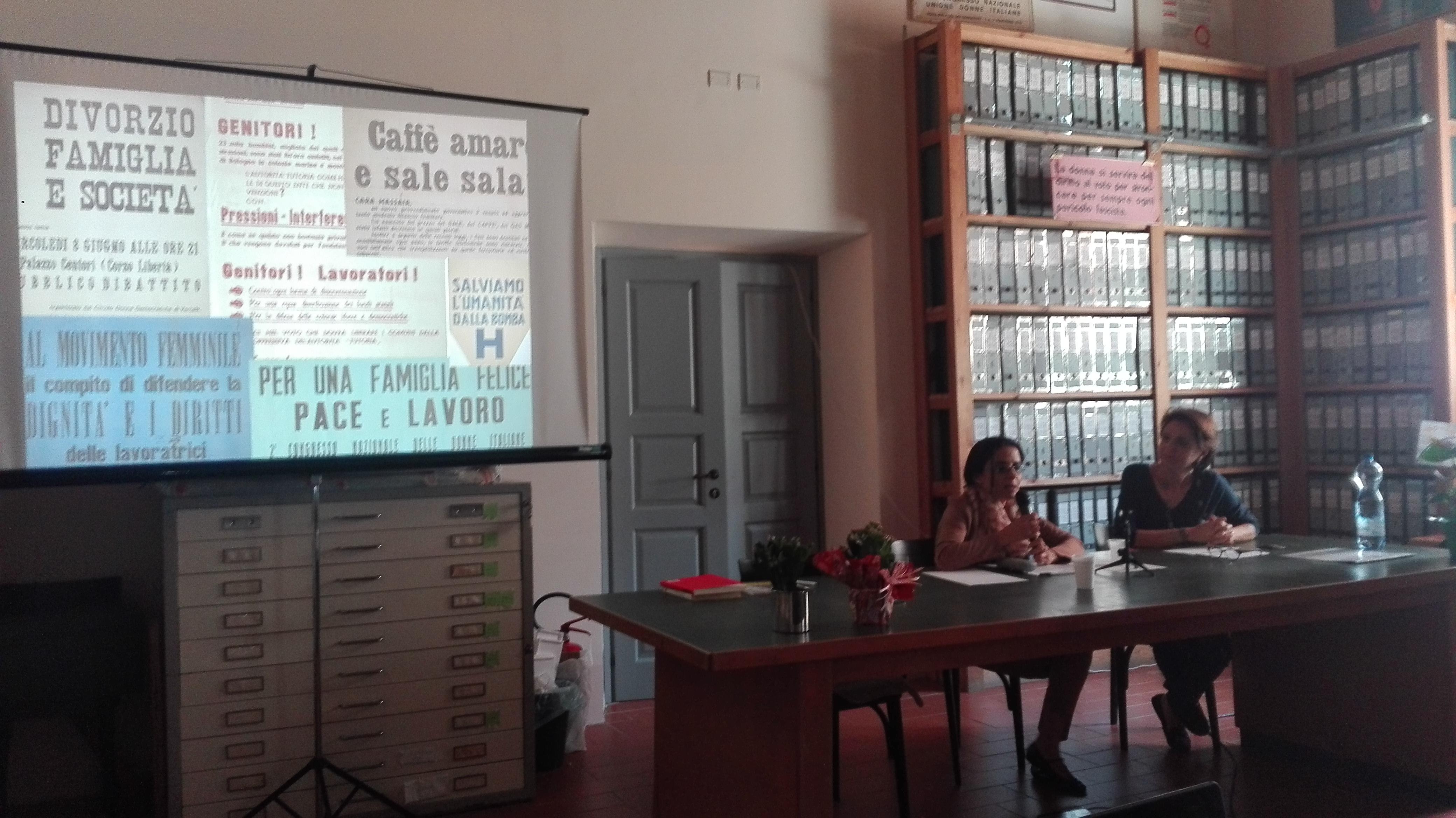 Anna Villari - Struttura di Missione Consiglio dei Ministri e Docente;  Linda Giuva - Docente e responsabile scientifica Archivio Centrale UDI